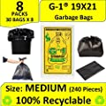 G 1 Garbage Bags Medium Size Black Color 19 X 21 Inch 240…