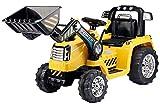 Toyas Bagger Bulldozer Kinder Elektro Auto Fahrzeug Traktor Kinderfahrzeug Elektrobagger Gelb Fernbedienung -