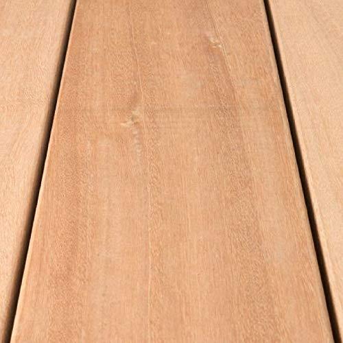 HORI® Bangkirai Terrassendiele Komplettset Massiv Diele 25 x 145 I Oberfläche glatt I Fläche: muster I Muster Dielenlänge
