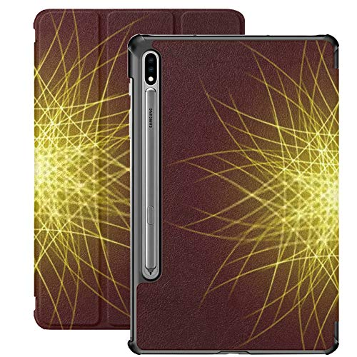Funda para Galaxy Tab S7 Funda Delgada y Liviana con Soporte para Tableta Samsung Galaxy Tab S7 de 11 Pulgadas Sm-t870 Sm-t875 Sm-t878 2020 Release, Energy Power Bright Burst Star Space