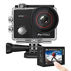 in budget affordable AKASO EK7000 Pro 4K action camera, EIS webcam with touch screen, adjustable viewing angle 40 m…