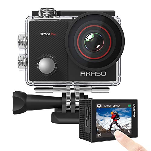 AKASO EK7000 Pro 4K Action Camera with Touch Screen EIS Adjustable View Angle 40m Waterproof...