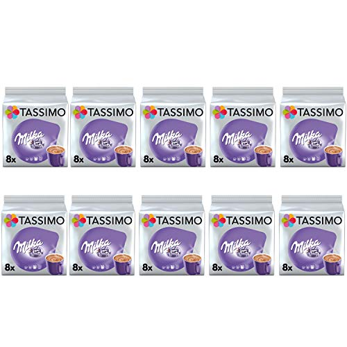 Tassimo Milka Hot Chocolate Pods - 10 Packungen (80 Getränke)