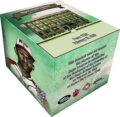 Negro Leagues Legends Centennial Baseball Card Set - Limited Edition 184 Cards - Featuring Baseball Legends Including Satchel Paige, Josh Gibson, Cool Papa Bell and Buck Leonard and More