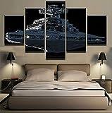 YOHAWOD Impresión de la Lona 5 Unidades/Set Star Wars Imperial Battleship Destructor Estelar Moderno Hogar Decoración de Pared Lienzo Imagen Arte HD Imprimir Pintura Arte de la Lona