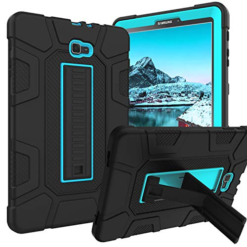 Galaxy Tab A 10.1 2016 Case SM-T580 T585 T587 GUAGUA Kickstand 3 in 1 Hybrid Hard Heavy Duty Rugged Shockproof Protective Anti-Scratch Tablet Case for Samsung Galaxy Tab A 10.1 2016 Blue/Black