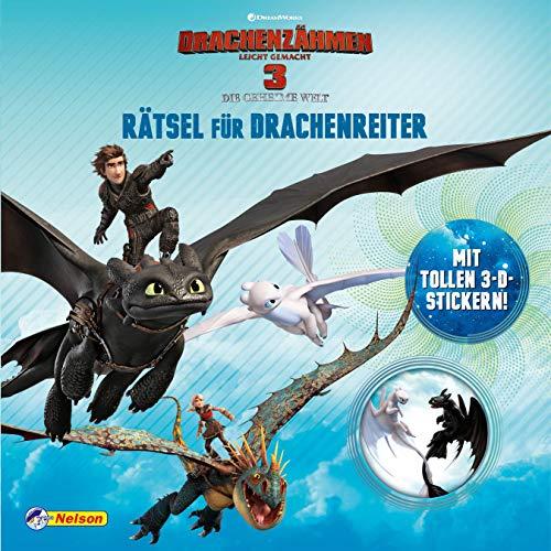 DreamWorks Dragons: Drachenzähmen leicht gemacht 3: Rätsel für Drachenreiter: Mit tollen 3-D-Stickern!