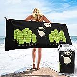 XCNGG Humor-Funny Toalla de Playa Suave Toalla de baño de Secado rápido portátil (Hebilla y Bolsa) Camping al Aire Libre Senderismo Gimnasio Toalla de Secado rápido 31.5 'x63'