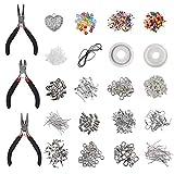 Kit de Fabricación de Joyas - Kit de Herramientas de Reparación de Joyas Incluye Cordón, Colgante, Cuentas - Kit de Inicio de Joyería para Adultos y Principiantes