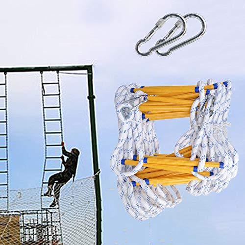 Escalera Cuerda Emergencia, Portátil De Seguridad De Múltiples Fines Escaleras De Escape De Emergencia con Ganchos Adultos Y Niños Escaleras Blandas ZHANGXU (Size : 15m)