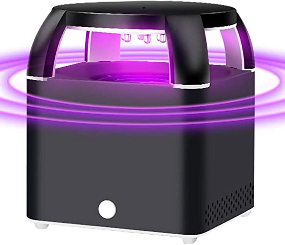 LIDONGDONG Lampe de Moustique de photocatalyseur par Inhalation à LED Lampe de Moustique Tueur électronique de piège à moustiques,noir