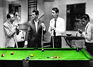 The Rat Pack Pool Table Canvas Art 55 x 24 inch