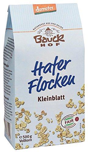 Bauckhof Bio Bauck Demeter Haferflocken Kleinblatt (8 x 500 gr)