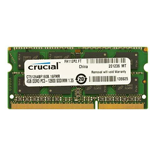 Crucial CT51264BF160B 4GB Speicher (DDR3L, 1600 MT/s, PC3L-12800, SODIMM, 204-Pin)