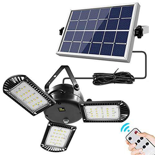 LED Garagenleuchte, 800 Lumen, Mit 60 LED, IP65, Wasserdicht, Solarleuchte Für Den Außenbereich, Faltbar, 3-blättrig, Verstellbares Mehrzwecklicht, Einstellbar, Für Werkstatt, Lager, Keller, Scheune
