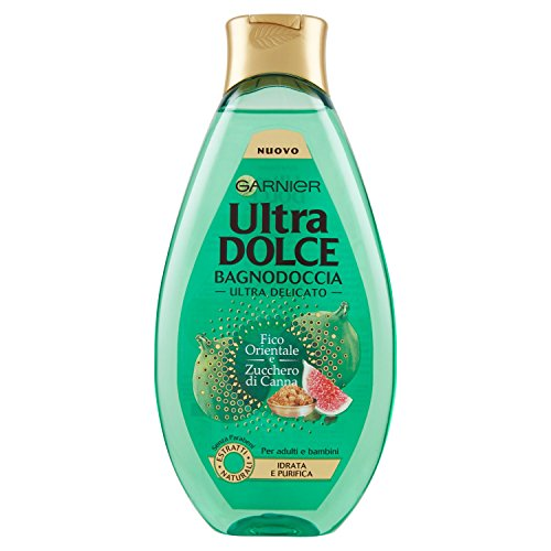 Garnier Ultra Dolce Bagnodoccia Ultra Delicato, 500 ml Feige und Rohrzucker