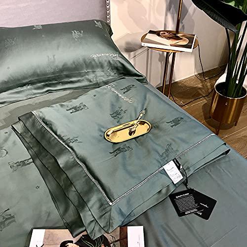 Manta de Microfibra Color sólido, Extra Suave Mantas para Sofás, Multifuncional para sofá, Cama, Viajes, Adultos, niños -Lindo Perro-Verde_200 × 230cm