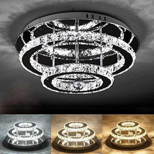 LED Kristall Deckenleuchte Moderne K9 Kristall Deckenlampe 36W Dimmbar Mit Fernbedienung Schlafzimmer Wohnzimmer Küche Beleuchtungssystem Dekorative Lampe