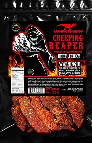 """Creeping Ghost"" Choice Carolina Reaper Jerky Beef 3o Three - Max 63% OFF"