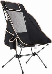 Gmnoy Sedia Pieghevole da Esterno Schienale Alto in Alluminio Multi-Purpose da Campeggio Portatile per Il Tempo Libero Ultra Light Moon Chair
