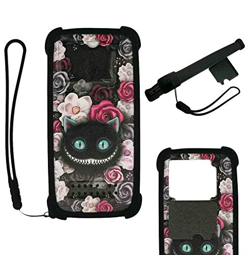 Oujietong Case For Moto One Fusion+Plus Case Silicone border + PC hard backplane Stand Cover LZM