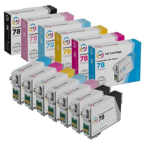 LD Remanufactured Ink Cartridge Replacement for Epson 78 (2 Black, 1 Cyan, 1 Magenta, 1 Yellow, 1 Light Cyan, 1 Light Magenta, 7-Pack)