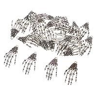 記念灰 25スケルトンハンドペンダントチャームペンダント(22 x 42mm)ブレスレットジュエリー作りクラフト用品、(レトロブロンズ/シルバー)-レトロブロンズ、22 x 42 mm、色:レトロブロンズ コロンバリウム (Color : Retro Silver)
