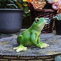庭の装飾品カエル創造的な装飾庭の風景のための防水樹脂庭の彫像芝生の装飾工芸品ギフトD:10 * 7.5 * 13cm