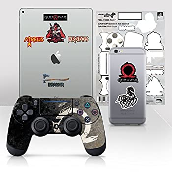 Controller Gear Officially Licensed God of War Dualshock 4 Wireless Controller and Tech Skin Set  White Dragon  - PlayStation 4