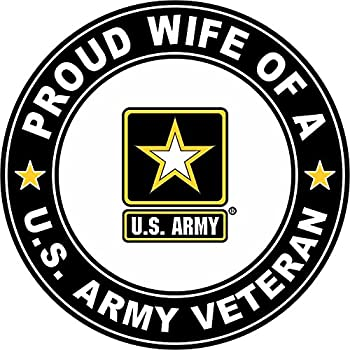 MAGNET US Army Veteran Proud Wife 5.5 Inch Magnetic Sticker Decal