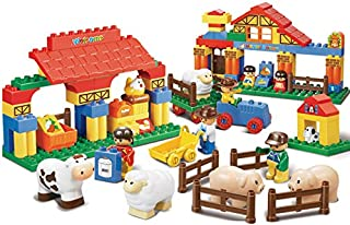 مجموعة قطع بناء المزرعة السعيدة متوسطة الحجم من سلوبان (122 قطعة)