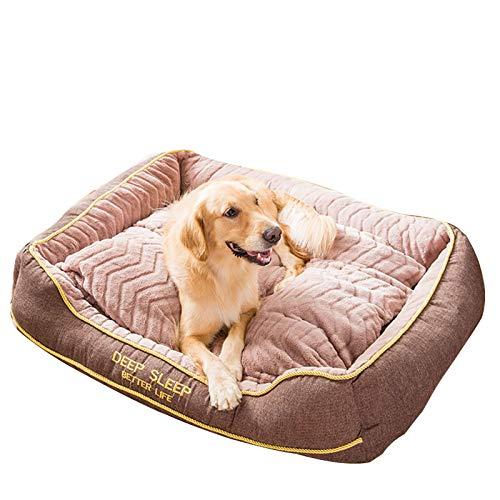 YAOSHUYANG Perro Cama Almohada de Cama para Mascotas para Perros medianos, sofá súper Suave sofá Cama de sofá Cama, Lavable a máquina y Cubiertas extraíbles, para Perros o Gatos Four Seasons General