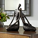 Dahlia Studios Loving Couple 11 1/2' Wide Bronze Sculpture