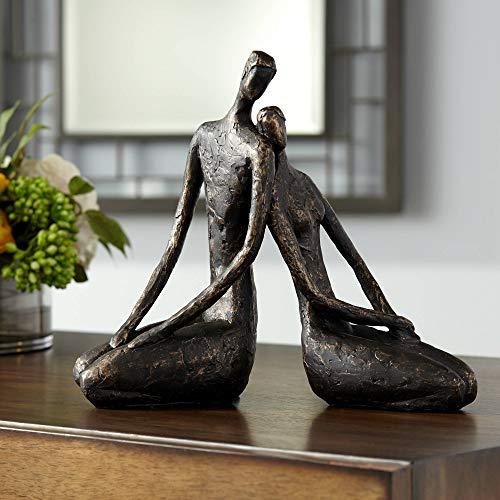 Dahlia Studios Loving Couple 11 1/2' Wide Bronze Sculpture