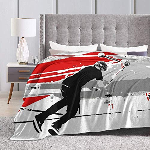 Yaxinduobao Bed Blanket Throw-Blankets for Kids Teenages Adults Spinning The Deck - Tail-Whip Scooter Stunt Ultra Soft Micro Fleece Blanket 50X40inches