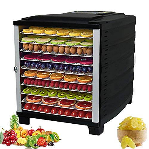 Best Prices! 10 Layers Food Dehydrator, 29~70°C Temperature Setting, 24h timer, Fruit Dryer Machine...