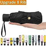 Luxau Mini Small Sun Rain Travel Umbrella, Windproof UV Protection Lightweight Sturdy Compact