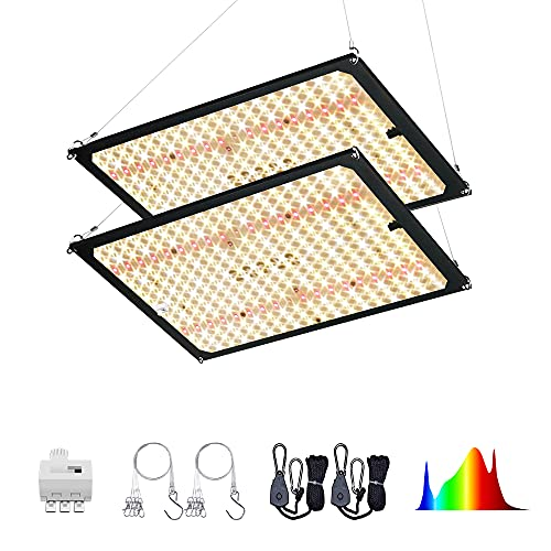 EnFun Updated FS-2000 LED Grow Lights for Indoor Plants Full Spectrum Dimmable for Veg Bloom with Epistar Diodes LED Grow Light 200-240 Watt
