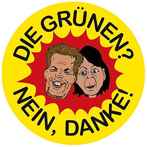 Aufkleber/Sticker - Die Grünen? Nein, Danke! (Sticker-Set 10 Stück), Habeck, Baerbock, Diesel, Fahrverbot, Klimawandel, CO2 Steuer