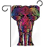 ガーデンフラッグ、象 、季節の屋外旗12x18両面ホームヤード装飾