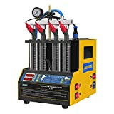AUTOOL CT160 Automotive Fuel Injector Cleaner & Tester 110V, Car Fuel Injector Ultrasonic Cleaning Machine 4-Cylinders Heating The Fluid for Vehicle Motorcycle