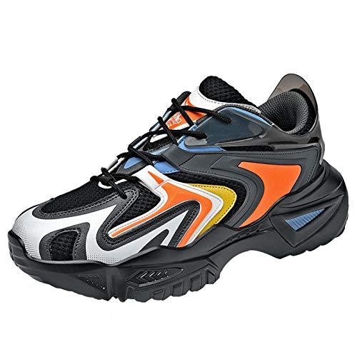 Entrenadores De Moda Para Hombres Adolescentes Chunky Walking Gym Sneakers Lightweight Anti-Skid Casual,Naranja,39EU