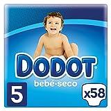 Dodot Pañales con Canales de Aire Bebé-Seco, Talla 5, para Bebes de 11 a 16 kg- 58 Pañales