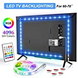 Bason TV LED Backlight, 13.09ft USB Led Lights Strip for 60-70 TV/Monitor Backlight, LED TV Lights with Remote, 4096 DIY Colors TV Bias Lighting for HDTV, PC,Updated.