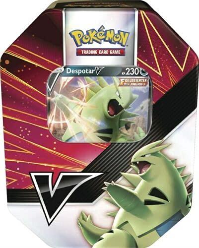 von Pokemon Trading Cards Tin Box Summer 2021 V-Power (Tyranitar-V)