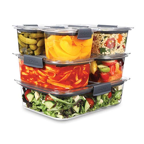 Sistema Brilliance - Set di 6 contenitori per alimenti con coperchio