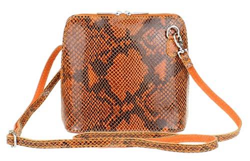 Girly Handbags , Damen Umhängetaschen, Orange - Orange Snake - Größe: W 17, H 17, D 8 cm (W 6, H 6, D 3 inches)