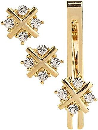 Amaal Men Cufflinks Set Men in a Gift Box Golden Cufflink,Tie pin Combo Set -CFL SET-101