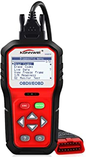 """KONNWEI KW818 OBD2 Scanner, 2.8"""" Large Screen OBDII Code Reader   Universal Car Diagnostic Scan Tool with Battery Test Function for All 1996 and Newer OBD II Protocol Cars"""