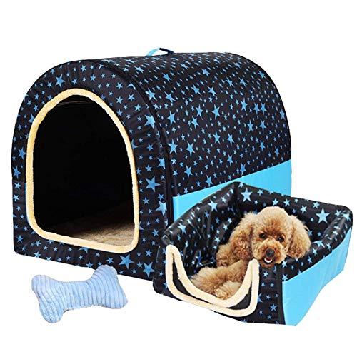 NIHAOA Haustierhaus Hund Haus, großer Bogentyp Bett Kennel warm faltbar for Haustiere weiche Katze Kissen for alle Jahreszeiten (Farbe: (Color : A, Size : 2XL)
